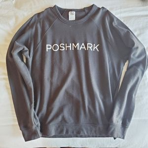Poshmark Logo Graphic Black Crew neck Sweatshirt L